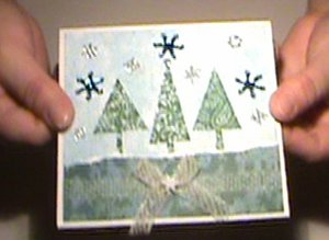 Christmas Cards Using Non-Traditional Paper