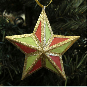 Tissue Parol Ornament