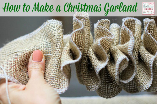 How to make christmas garland for All free holiday crafts