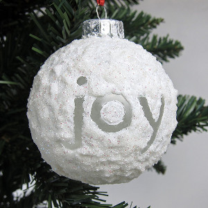 Joyful Snowball Ornament