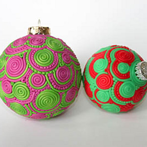 Swirly Clay Doodle Ornament