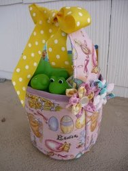 Cute and Cozy Fabric Easter Basket