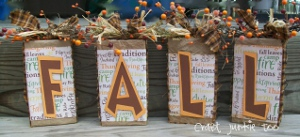 Decorative Fall Blocks from Recycled Boxes