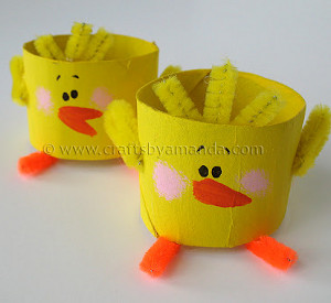 Recycled Paper Tube Chicks