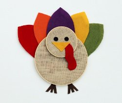 Embroidery Hoop Turkey Art