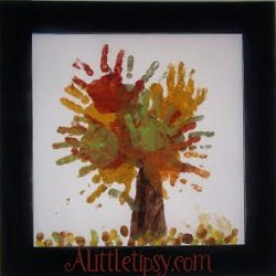 Fall Leaves Finger Painting