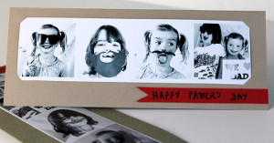 Photo Booth Father's Day Card