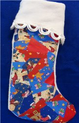 Festive Patchwork Christmas Stocking