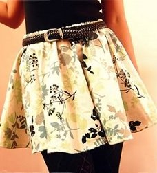 Garterized Circular Skirt With Lining