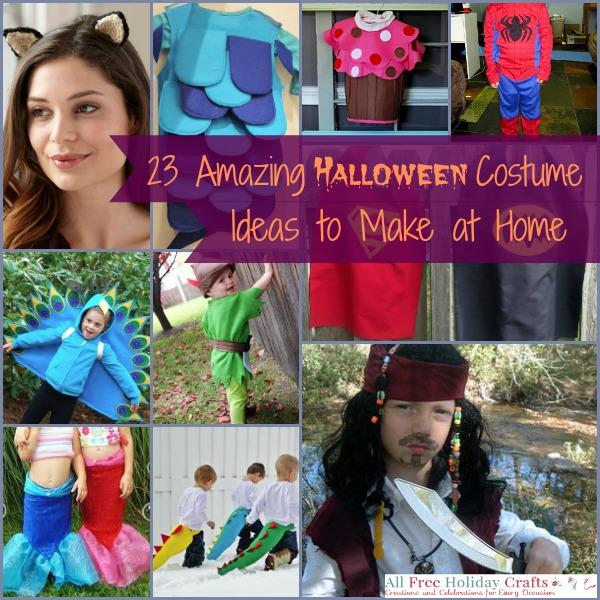 23 amazing halloween costume ideas to make at home for Decorations for halloween to make at home