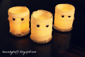 Spooky Mummy Candles
