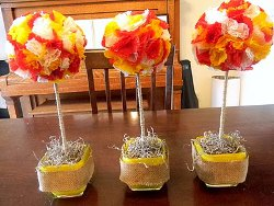 Mini Fall Topiaries