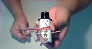 Miniature Snowman Christmas Decoration