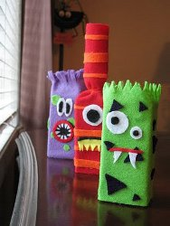 Monster Decorations from Juice Boxes
