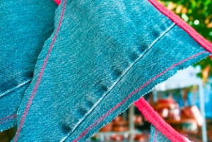 Festive Denim Party Bunting