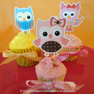 Party Owl Toppers