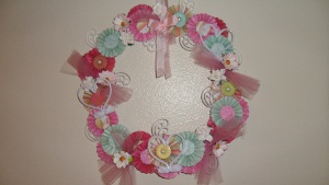 Pretty in Pastels Valentine Wreath