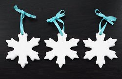 Snowflake Cookie Cutter Ornaments