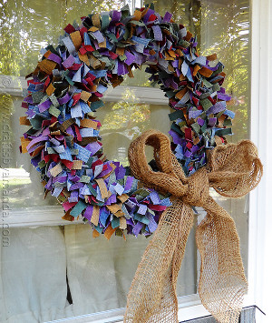 Denim Scrap Wreath