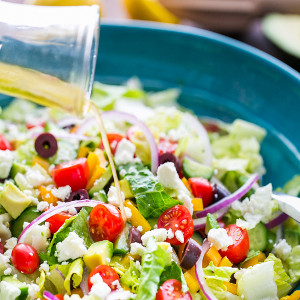 Greek Salad with Lemon Dressing