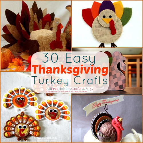 30 Easy Thanksgiving Turkey Crafts