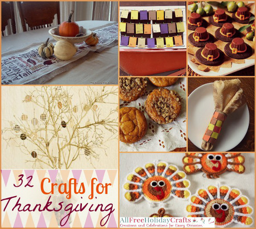 32 Crafts for Thanksgiving