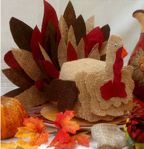 Burlap Turkey Craft