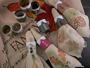 Thanksgiving Pilgrim Napkin Rings