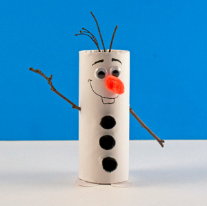 Diy toilet paper roll olaf for All free holiday crafts