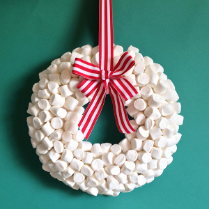 Marshmallow diy winter wreath for All free holiday crafts
