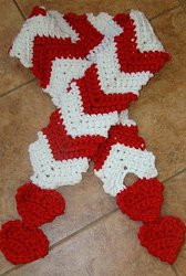 With All My Heart Crochet Scarf