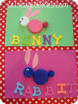 Bottle Cap Bunnies