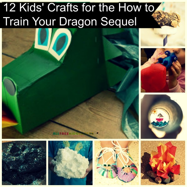 12 Kids' Crafts for the How to Train Your Dragon Sequel