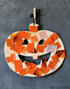 Adorable Scrap-O'-Lantern Pumpkin