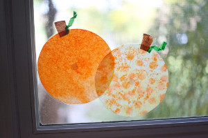 Adorable Stained Glass Pumpkins