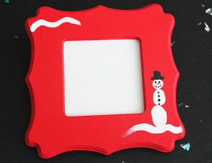 Adorable Thumbprint Snowman Frame