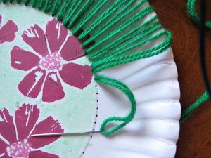 Hawaiian-Inspired Paper Plate Art