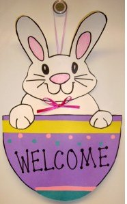 Easter Bunny Welcome Sign Allfreekidscrafts Com