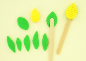 Easy Peasy Clay Garden Stakes