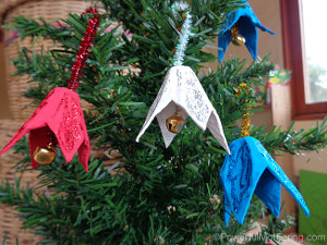 Egg Carton Bell Ornaments