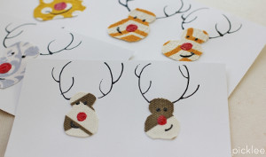 Fabric Reindeer DIY Christmas Cards
