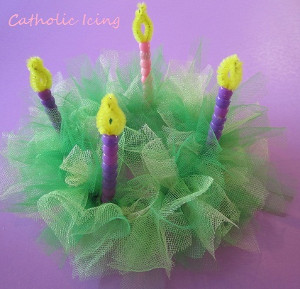 Fabulous Tulle Advent Wreath