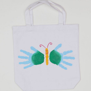 Happy Handprint Butterfly Bag
