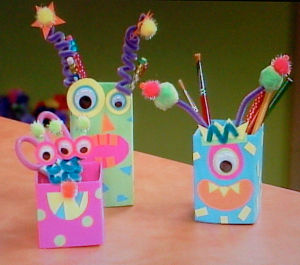 Monster Milk Cartons Desk Set