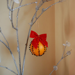 Bow-utiful Christmas Orange Pomander