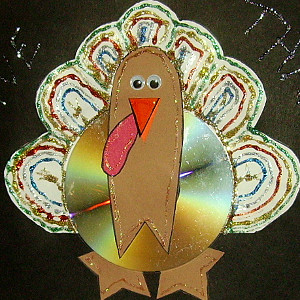 CD Turkey Thanksgiving Craft