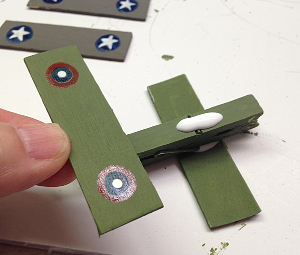 Clothespin Military Airplanes