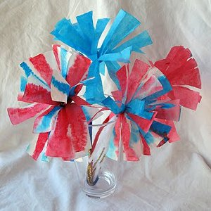 Coffee Filter Firework Flowers