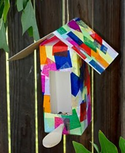 Colorful Collage Birdhouse