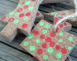 Dollar Store Cork Ornaments